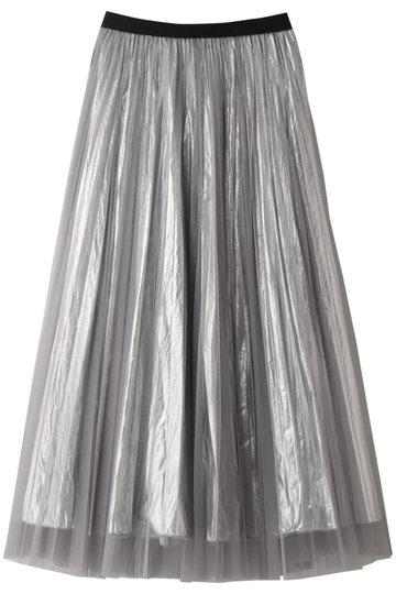 AULA アウラ:【予約販売】【AULA AILA】チュールレイヤードプリーツ・スカート
