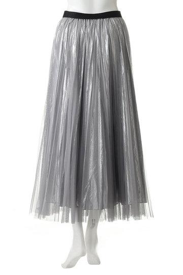 アウラ/AULAの【AULA AILA】チュールレイヤードプリーツスカート(シルバー/1191-07035)