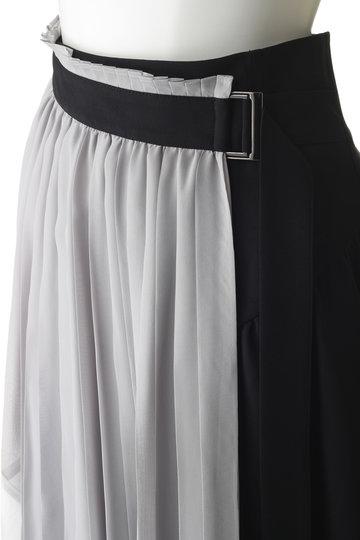 アウラ/AULAの【AULA AILA】プリーツラップスカート(ブラック/1191-07041)