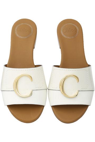 クロエ/ChloeのCHLOE C フラットサンダル(ナチュラルホワイト/CHC19S13206)