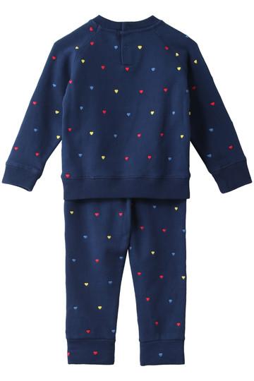 ステラ マッカートニー/STELLA McCARTNEYの【Kids】ハート刺繍スウェット(上下セット)(ネイビー/527651SLJ37)