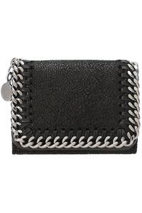 <ELLE SHOP>Falabella 三つ折りコンパクト財布 ブラック画像