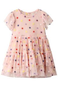 30%OFF!<ELLE SHOP>【Kids】スター刺繍ワンピース ピンク画像