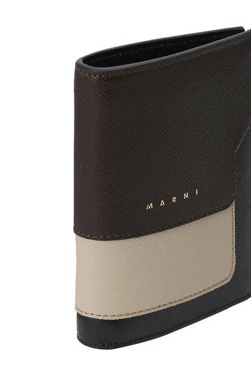 マルニ/MARNIのVANITOSI 2つ折り財布(コーヒー×ライトキャメル/PFMOQ14U13 LV520)