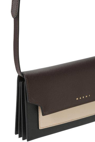 マルニ/MARNIのTRUNK ポシェット型 財布(コーヒー×ライトキャメル/PFMOT08U13 LV520)