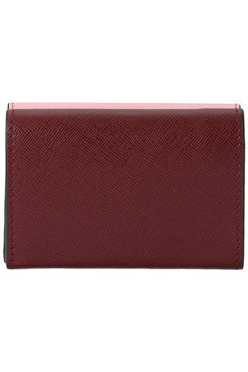 マルニ/MARNIのTRUNK 3つ折り財布(ローズ×ライムストーン×ルビー/PFMOW02U09 LV520)