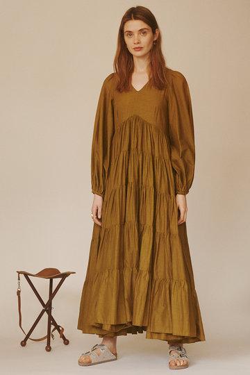 マリハ/MARIHAのエンジェルのドレス(ロングスリーブ)(アンティークオリーブ/861393006)