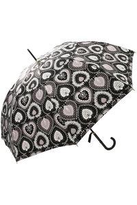 <ELLE SHOP> Kiwanda キワンダ ORIENTAL HEART ハンドプリント長傘(晴雨兼用) ブラック画像