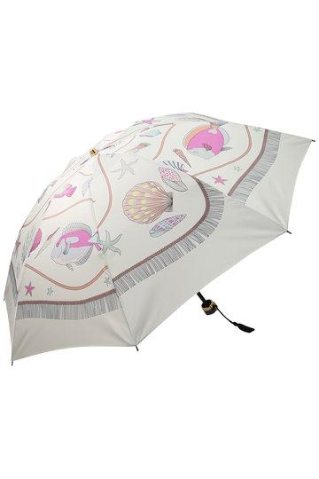 キワンダ/KiwandaのLa mer プリント折りたたみ傘(晴雨兼用)(アイボリー/AKU10T02)