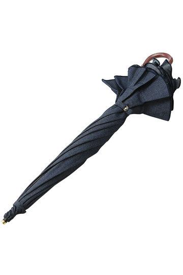 キワンダ/KiwandaのB.B. デニムフリルショート日傘(ディープインディゴ/KT00003U)