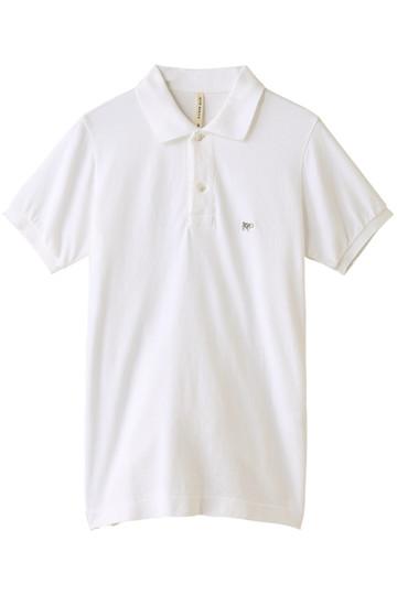 【SCYE BASICS】40/1鹿の子ポロシャツ オフホワイト