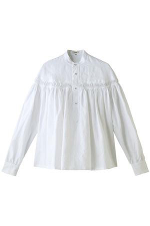 リネン高密度タックシャツ