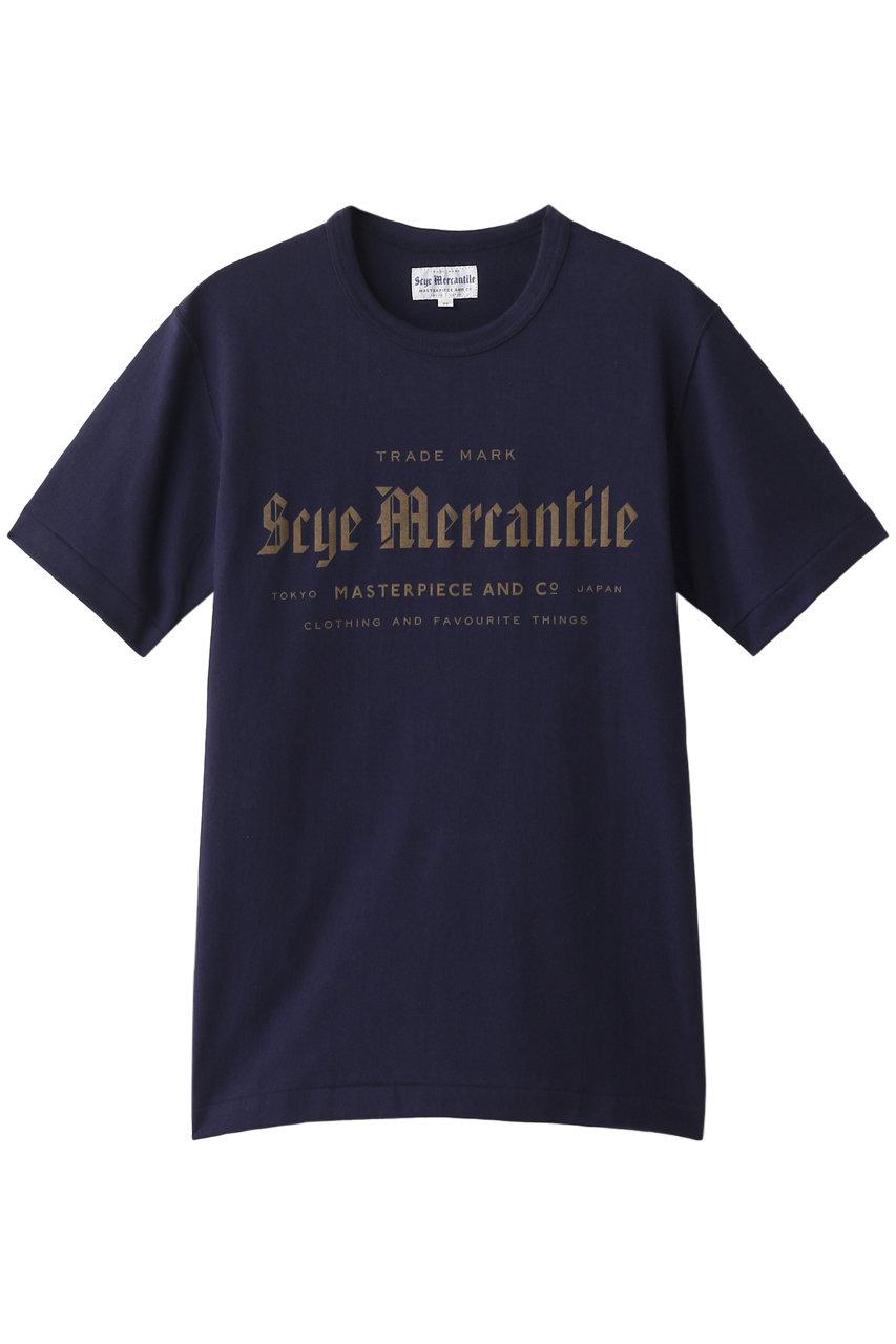 サイ/サイベーシックス/Scye/SCYE BASICSの【UNISEX】【Scye Mercantile】ロゴTシャツ(【ELLESHOP限定】ネイビー/7717-25835)