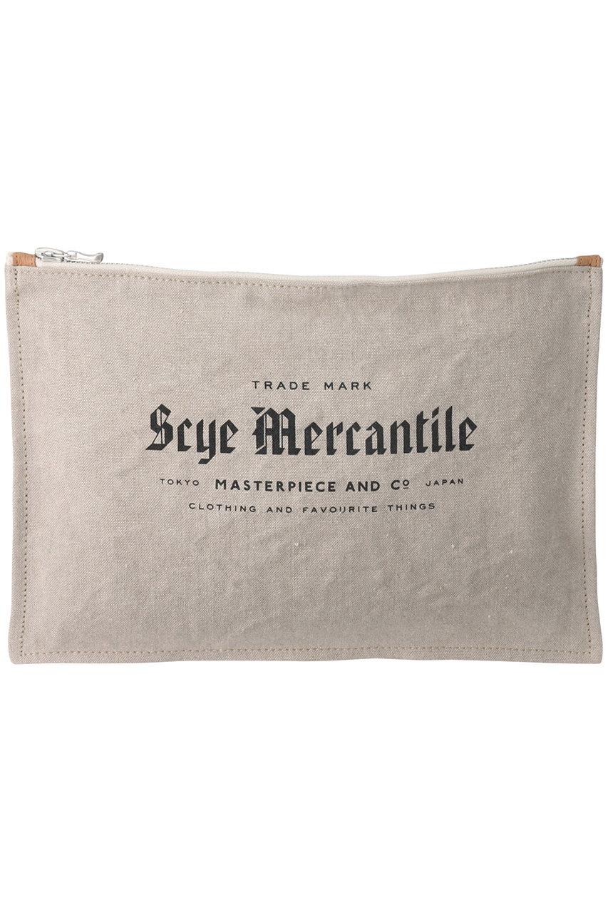 サイ/サイベーシックス/Scye/SCYE BASICSの【UNISEX】【Scye Mercantile】リネンポーチL(ナチュラル/7717-15812)
