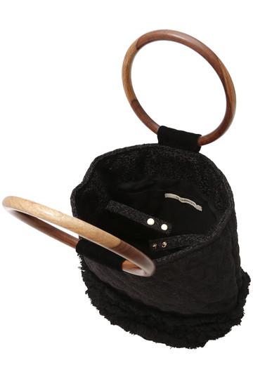 ヌキテパ/ne Quittez pasのジャカードウッドハンドルバッグ(ブラック/12082330)