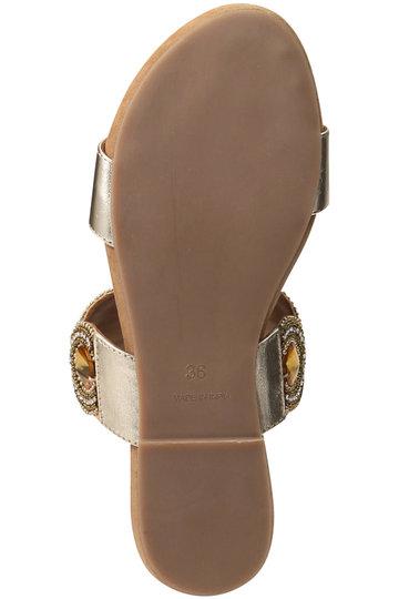 ヌキテパ/ne Quittez pasのビッグサークルストラップサンダル(ゴールド/13191665)