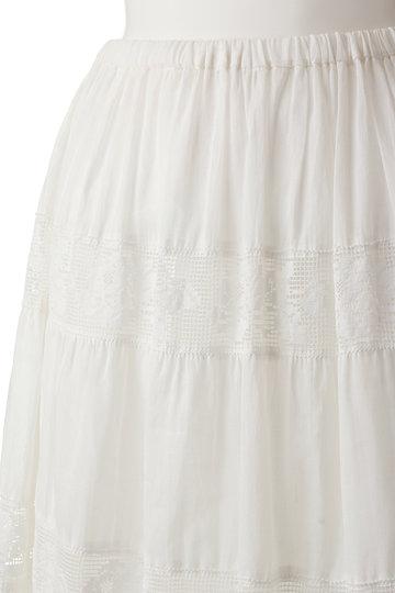 ビリティス・ディセッタン/Bilitis dix-sept ansのラミーティアードスカート(ホワイト/2912-381)