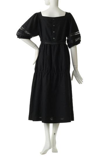 ビリティス・ディセッタン/Bilitis dix-sept ansのリネンロングドレス(ハーフスリーブ)(ブラック/2913-603)