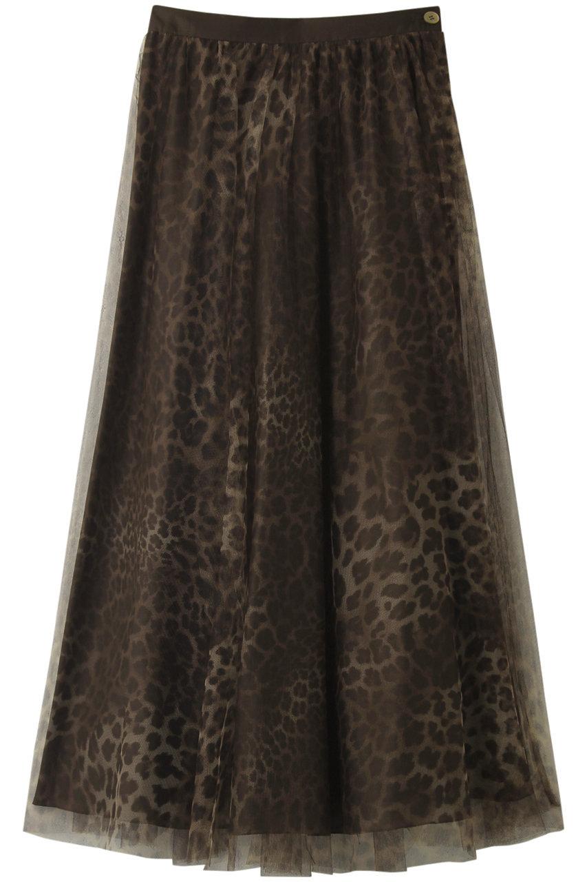 ビリティス・ディセッタン/Bilitis dix-sept ansのレオパードスーパーロングチュチュスカート(90cm)(ダークブラウン/2912-394)