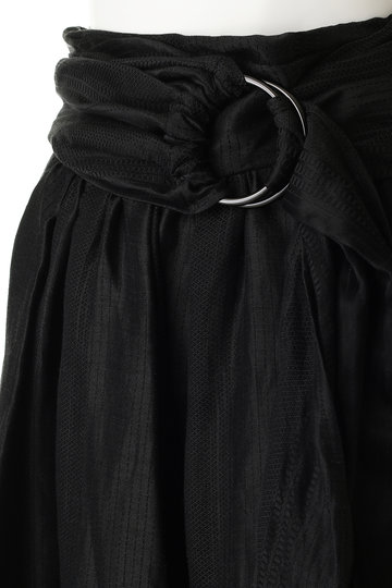 ミュラー オブ ヨシオクボ/muller of yoshiokuboのAgdal ギャザースカート(ブラック/MLS19402)