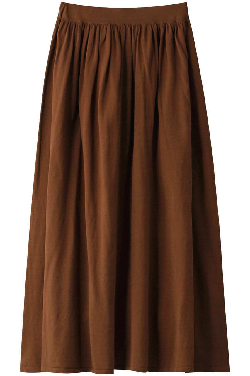 デミリー/DEMYLEEのHEDVIG マーセライズコットン ギャザープルオンスカート(ブラウン/3310500049)
