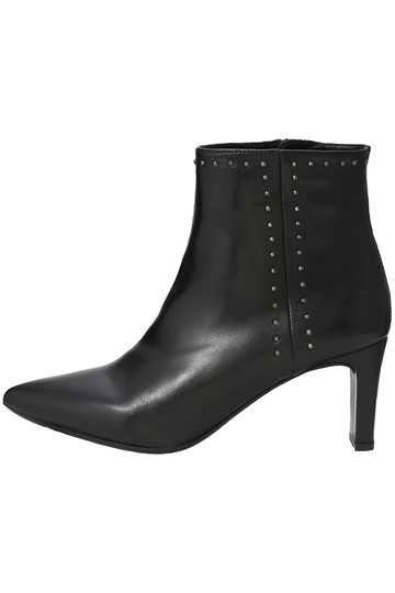 Esmeralda エスメラルダ 【UNISA】【ELLE SHOP限定】スタッズスムースショートブーツ ブラック