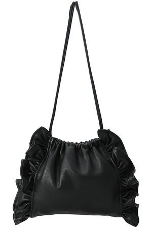 【予約販売】レザーフリル巾着バッグ