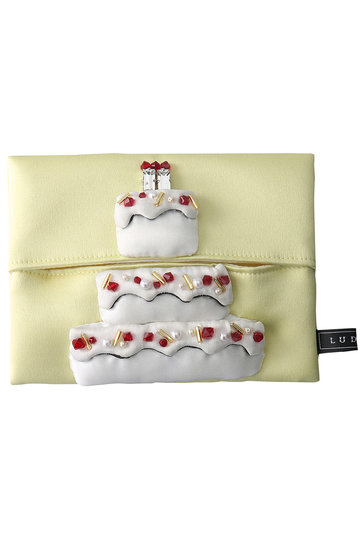 LUDLOW ラドロー 【予約販売】ストロベリーショートケーキティッシュケース イエロー
