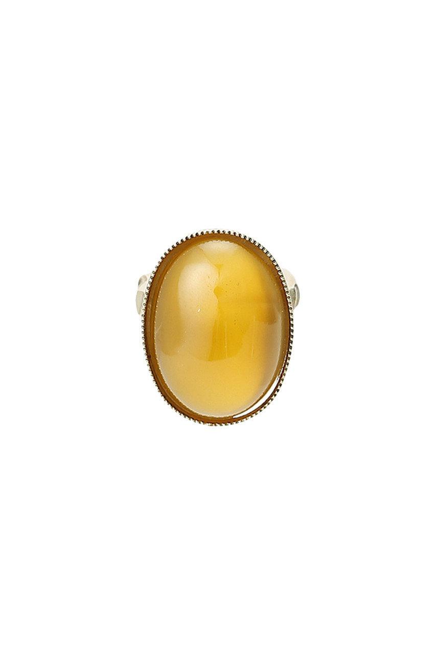 グリン/grenのビンテージガラスストーンリング LL(ベージュ/VNT-GS04)