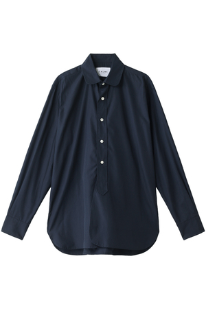【MEN】【CALME】ラウンドカラーコットンシャツ マルティニーク/martinique