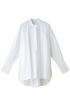 【CURRENTAGE】スタンドカラーシャツ マルティニーク/martinique