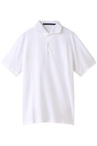 50%OFF!<ELLE SHOP>メンズ(MENS)ポロシャツ ホワイト画像