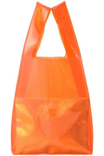 マルティニーク/martiniqueの【LAVENTURE martinique】PVCトートバッグポーチ付き(オレンジ×シルバー/A0396PBG979)