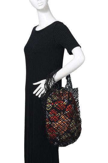 マルティニーク/martiniqueの【l'Atelier du Crochet】コンビトートバッグ(オレンジ×ブラック/A0397PBG087)