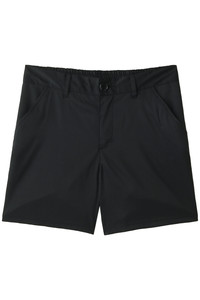 <ELLE SHOP>【Coral veil】PU混ポリエステルハーフパンツ ブラック