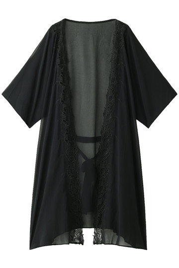レイール(ミズギ)/Reir(水着)の【Coral veil】レース羽織(ブラック/55-58-7-8471)