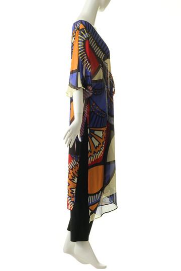 レイール(ミズギ)/Reir(水着)の【coral veil】Art African 羽織(ブラックマルチ/55-58-8-8756)