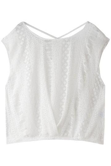 レイール(ミズギ)/Reir(水着)のPattern laceTシャツ(ホワイト/55-51-8-1957)
