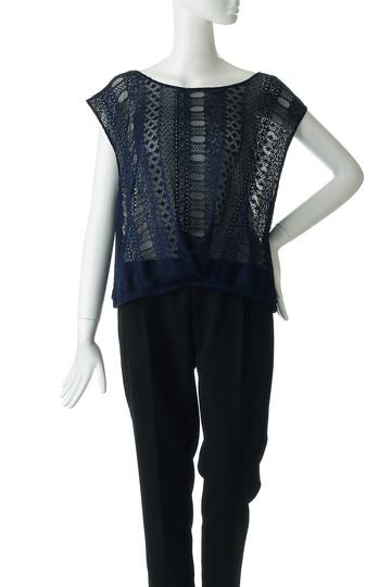レイール(ミズギ)/Reir(水着)のPattern laceTシャツ(ネイビー/55-51-8-1957)