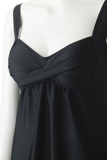 レイール(ミズギ)/Reir(水着)の【Coral veil】Solid ナチュラルシェイプタンキニ(ブラック/55-58-9-8186)
