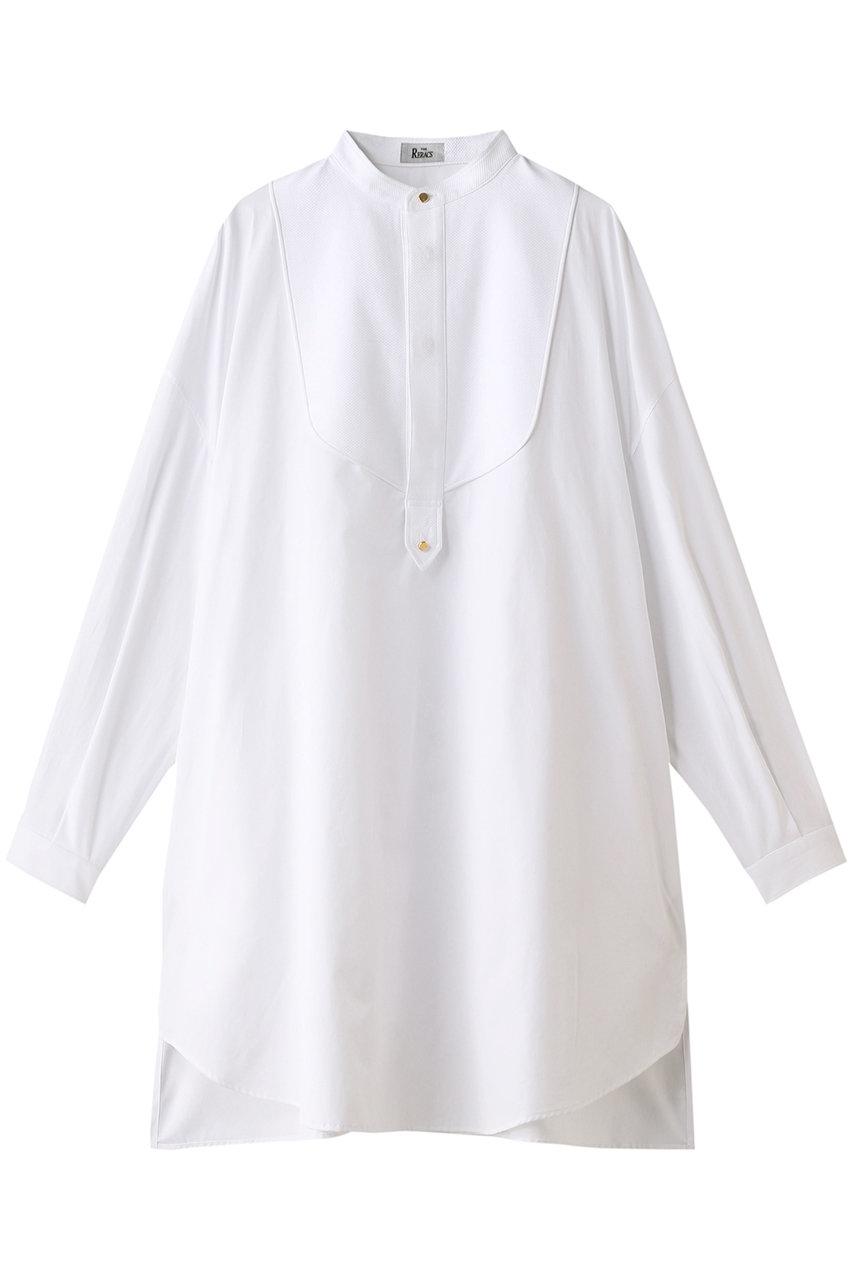 ザ・リラクス/THE RERACSのコットンノーカラータキシードロングシャツ(ホワイト/20SS-REBL-216L-J)