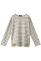 ボーダーTシャツ フローレント/FLORENT オフホワイト×グレー