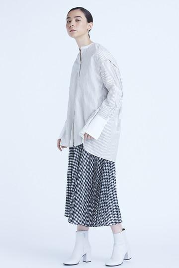 キュプラギンガムチェックプリーツスカート フローレント/FLORENT