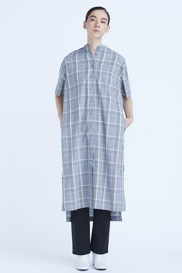 グレンチェックシャツワンピース フローレント/FLORENT