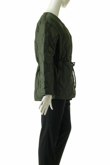 フローレント/FLORENTのキルティングラップジャケット(カーキ/1805F02002)