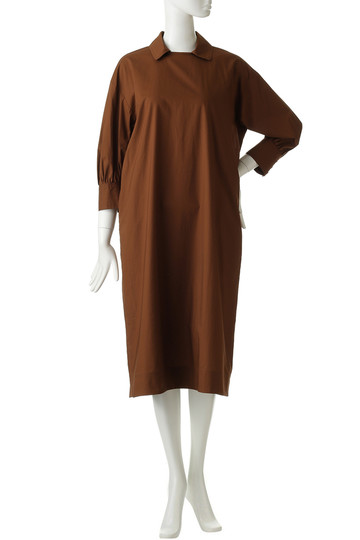 フローレント/FLORENTのシルキーコットンタイプライタークローズドレス(ブラウン/1805F05003)