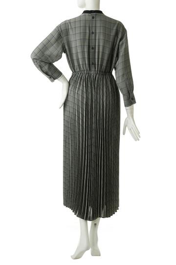 フローレント/FLORENTのエステルボイルガンクラブチェックドレス(ネイビー/1805F05004)