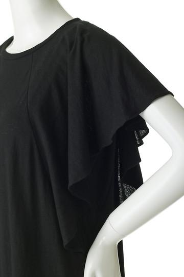 フローレント/FLORENTのプレミアム天竺フレアスリーブトップ(ブラック/1805F06003)