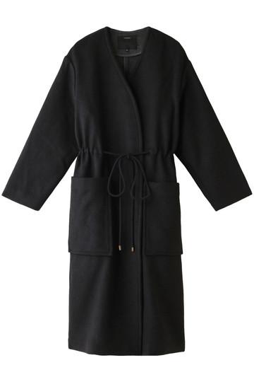 フローレント/FLORENTのプレミアムリバーストリングノーカラーコート(ブラック/1805F08006)
