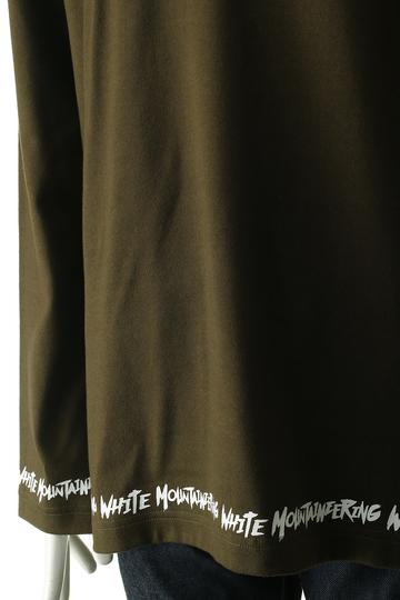 ホワイトマウンテニアリング/White Mountaineeringの【MEN】ロゴプリントロングスリーブTシャツ(カーキ/WM1773526)